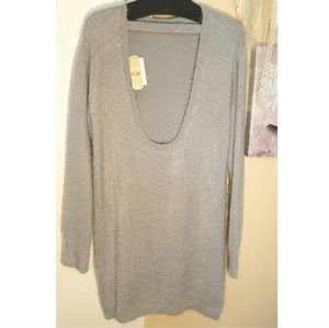 97365233c6 Gianni Bini Sweaters - Gianni Bini Grey Sweater Dress Open Back